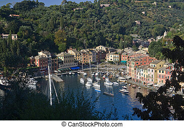 Portofino 2 - Panorama of Portofino, famous small town near...