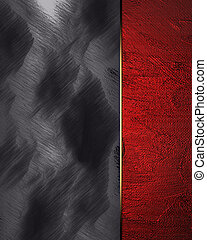 Black and white background with red edge. Design template