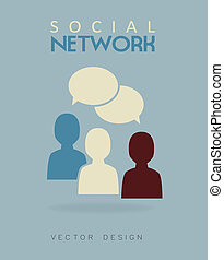 social network over blue  background vector illustration