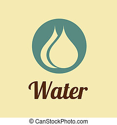water design over pink background vector illustration