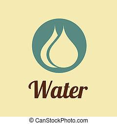 water design over pink background vector illustration