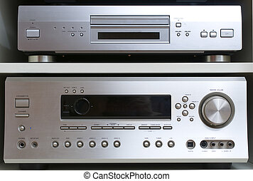 Home cinema system with blue-ray dvd pleer and volume...