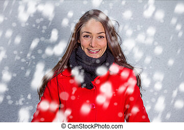 winter girl in the snow