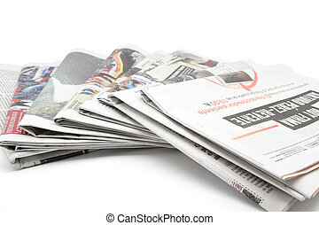 newspapers - some newspapers on white background