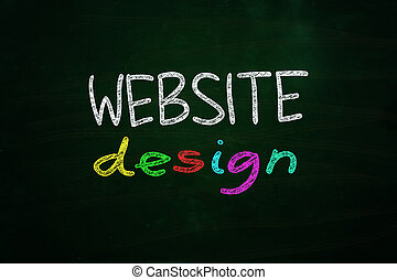 Website Design Lettering, written with Color Chalk on...
