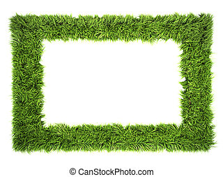 grass frame isolated on a white background
