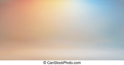 Bright colors of the studios background - Light colors of...