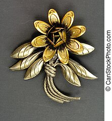 Vintage pin - Closeup of a jewelry pin from the mid 20th...
