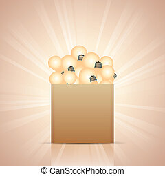 Bunch of Ideas - Vector illustration of a box full of...