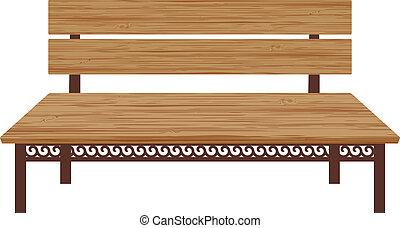 Drewniany, ława