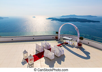 Romantic place for wedding ceremony in Santorini...