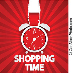 Shopping time poster design - Vector Illustration of...