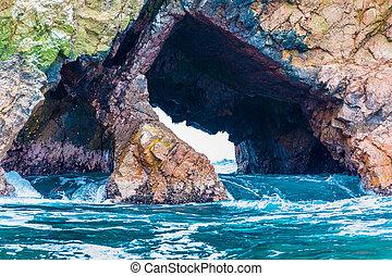 Peru,South America, coast at Paracas National Reservation,...