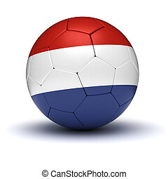 Dutch Football isolated with clipping path