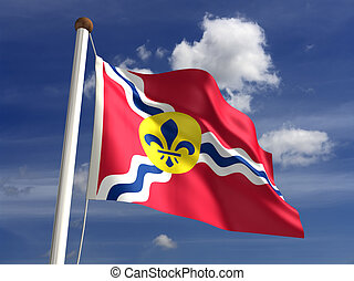 St Louis City Flag - St Louis City flag (isolated with...