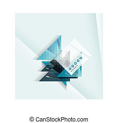 Blue abstract triangle shape geometric background
