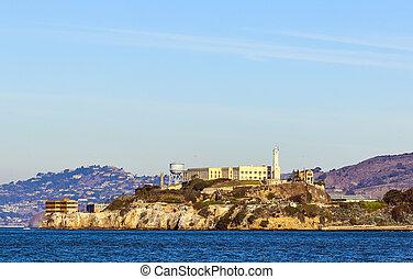 the prison of Alcatraz at San Francisco