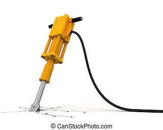 Jackhammer Image with clipping path