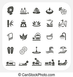 Spa icons set isolated on white background, EPS10, Don't use...