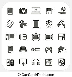 Electronic Device icons set, EPS10, Dont use transparency