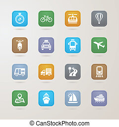 Transportation icons set, EPS10, This illustration contains...