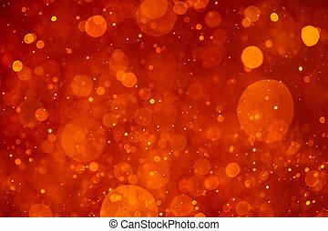 orange bokeh background
