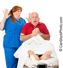 Medical Malpractice - Surprised man wakes up in the hospital...