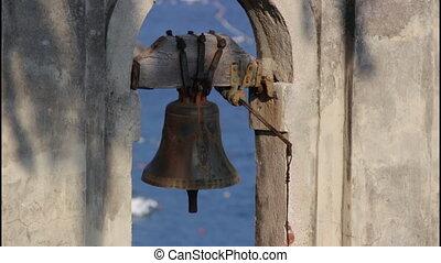 Old iron bell, tilt up