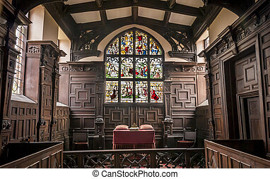 Chapel Alter - St Nicholas' Chapel, Cholmondeley is a...