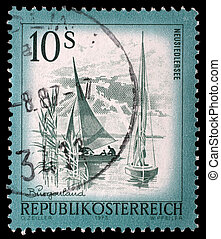 Stamp printed in Austria - AUSTRIA - CIRCA 1973: A stamp...