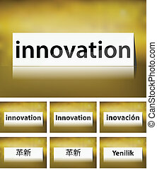 Innovation Concept on white background