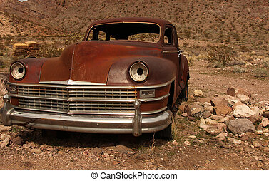 Rusted Out Old Amercian Classic Vehicle - Horizontal Image...