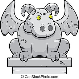 Gargoyle - A stone gargoyle perched on a building