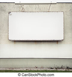 Advertising billboard - Blank advertising billboard on a...