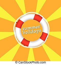 summer holidays color vector illustartion