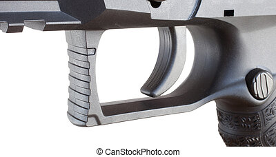 Trigger - Squared triggerguard and trigger on a polymer...