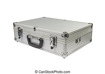 Silver Suitcase on white