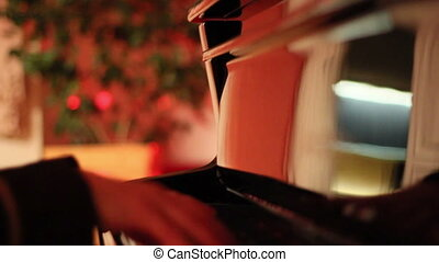 A girl playing the piano