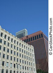 Downtown Omaha Nebraska - View of the buildings of downtown...
