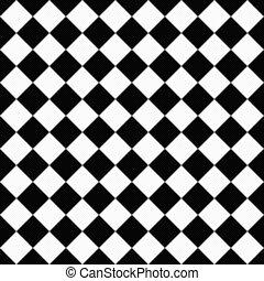 pretas, branca, diagonal, Verificadores, Textured, tecido,...