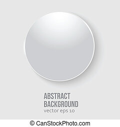 Vector white circle Abstract background for design
