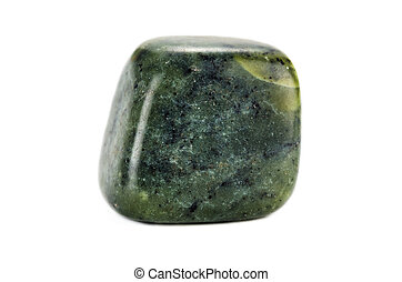 Green moss agate on white backgroud