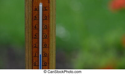 thermometer temp rise - Fast rising temperature on wooden...