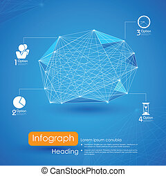 Networking Infographic Background