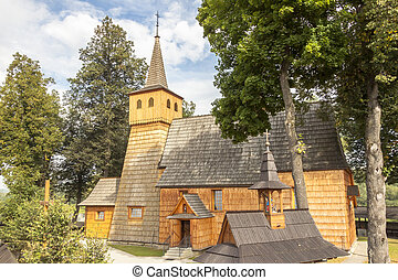 Trinity and St Anthony's Church in Lopuszna in Poland. -...