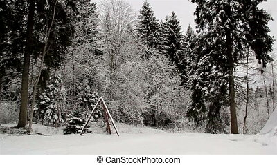 A big teepee on the snow - A big teepee found on the...