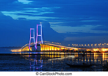Suramadu bridge - Suramadu one view of the bridge taken in...