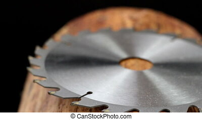 A metal blade for sawing - A circular metal blade for sawing...