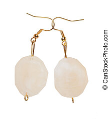 Pearlescent earrings moonstone - Earrings made of plastic...