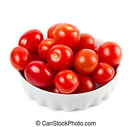 bowl with fresh tomatoes